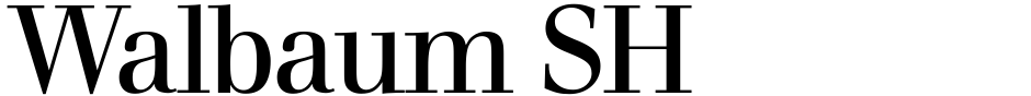 Click to view  Walbaum SH font, character set and sample text