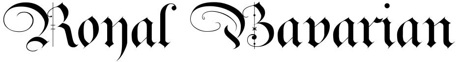 Click to view  Royal Bavarian font, character set and sample text