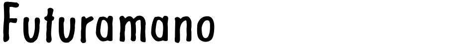 Click to view  Futuramano font, character set and sample text
