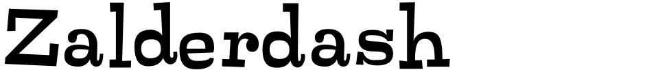 Click to view  Zalderdash font, character set and sample text