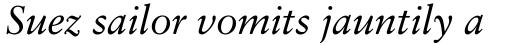 Classical Garamond Std Italic sample