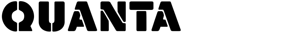 Click to view  Quanta font, character set and sample text