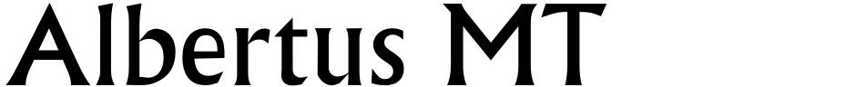Click to view  Albertus MT font, character set and sample text