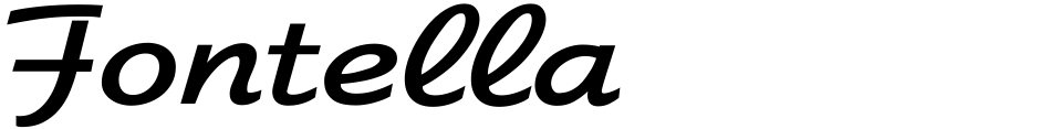 Click to view  Fontella font, character set and sample text