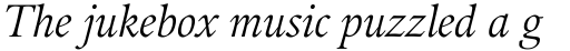 Guardi 56 Italic sample