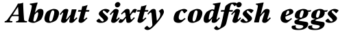 Guardi 96 Black Italic sample