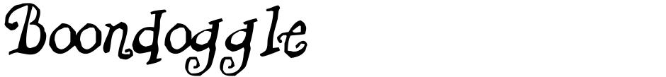 Click to view  Boondoggle font, character set and sample text