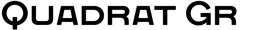 Click to view  Quadrat Grotesk New font, character set and sample text