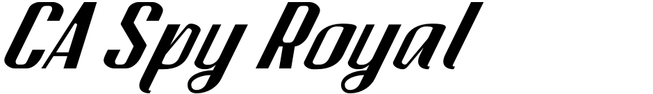 Click to view  CA Spy Royal font, character set and sample text