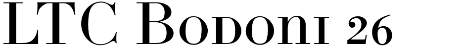 Click to view  LTC Bodoni 26 font, character set and sample text