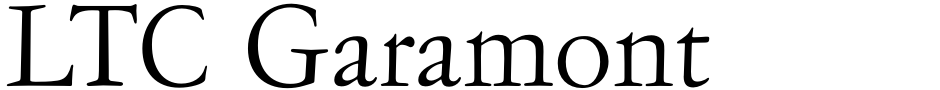 Click to view  LTC Garamont font, character set and sample text