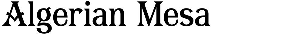 Click to view  Algerian Mesa font, character set and sample text