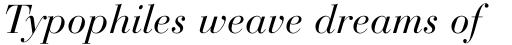 Bauer Bodoni Std Italic sample