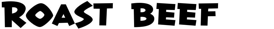 Click to view  Roast Beef BTN font, character set and sample text