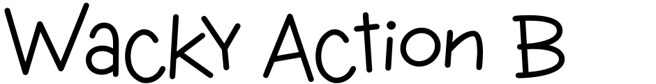 Click to view  Wacky Action BTN font, character set and sample text