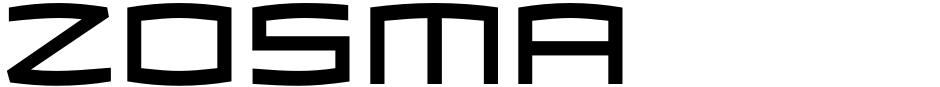 Click to view  Zosma font, character set and sample text