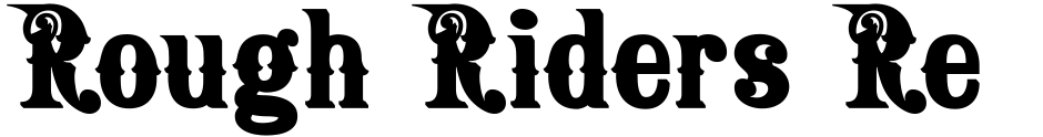 Click to view  Rough Riders Redux font, character set and sample text