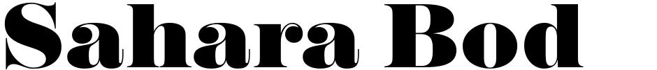 Click to view  Sahara Bodoni font, character set and sample text