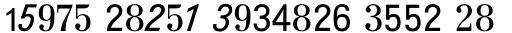 Topografische Zahlentafel Regular sample