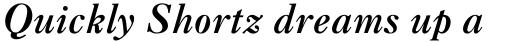Caslon Three Italic sample