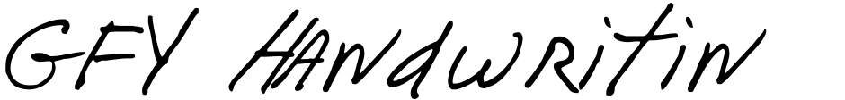 Click to view  GFY Handwriting Fontpak font, character set and sample text