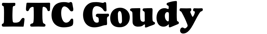 Click to view  LTC Goudy Heavyface font, character set and sample text