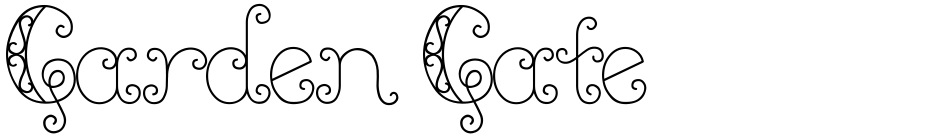 Click to view  Garden Gate font, character set and sample text