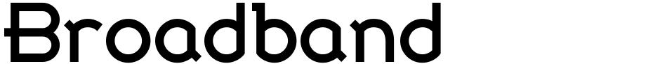 Click to view  Broadband font, character set and sample text