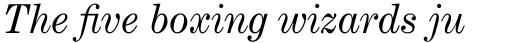 Century Expanded Italic sample