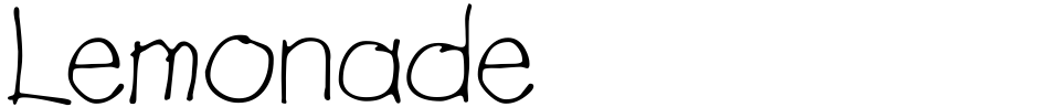 Click to view  Lemonade font, character set and sample text