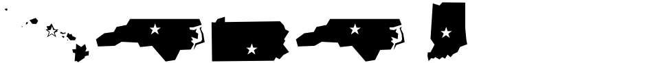 Click to view  Mini Pics Borderline Capital font, character set and sample text