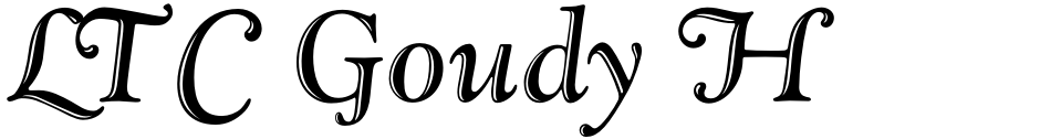Click to view  LTC Goudy Handtooled font, character set and sample text