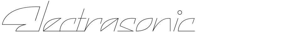 Click to view  Electrasonic font, character set and sample text