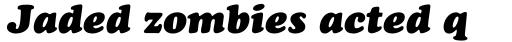 Cooper Black Italic sample
