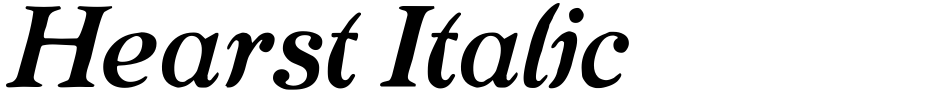 Click to view  Hearst Italic font, character set and sample text