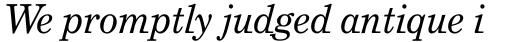 Grad Italic sample
