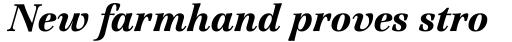 ITC Jamille Black Italic sample