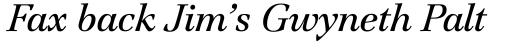 ITC Jamille Book Italic sample