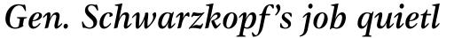 ITC Gamma Medium Italic sample