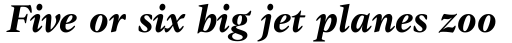 ITC Gamma Bold Italic sample