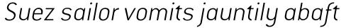 Conduit ExtraLight Italic sample