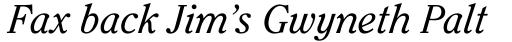ITC Clearface Italic sample