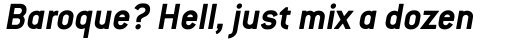 Conduit Bold Italic OS sample