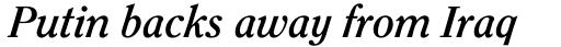 ITC Clearface Bold Italic sample