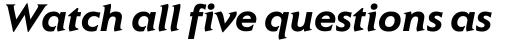 ITC Elan Bold Italic sample