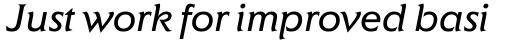 ITC Elan Book Italic sample