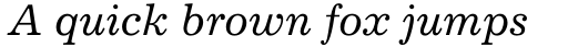 Excelsior Italic sample