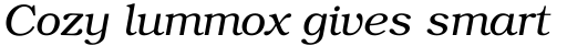 ITC Bookman Light Italic sample