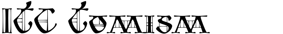 Click to view  ITC Tomism font, character set and sample text
