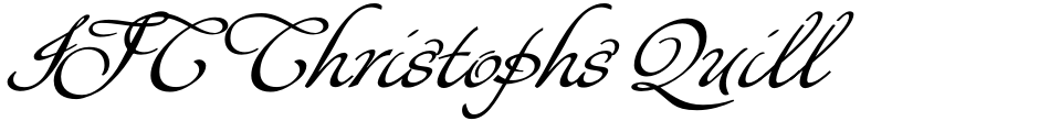 Click to view  ITC Christophs Quill font, character set and sample text
